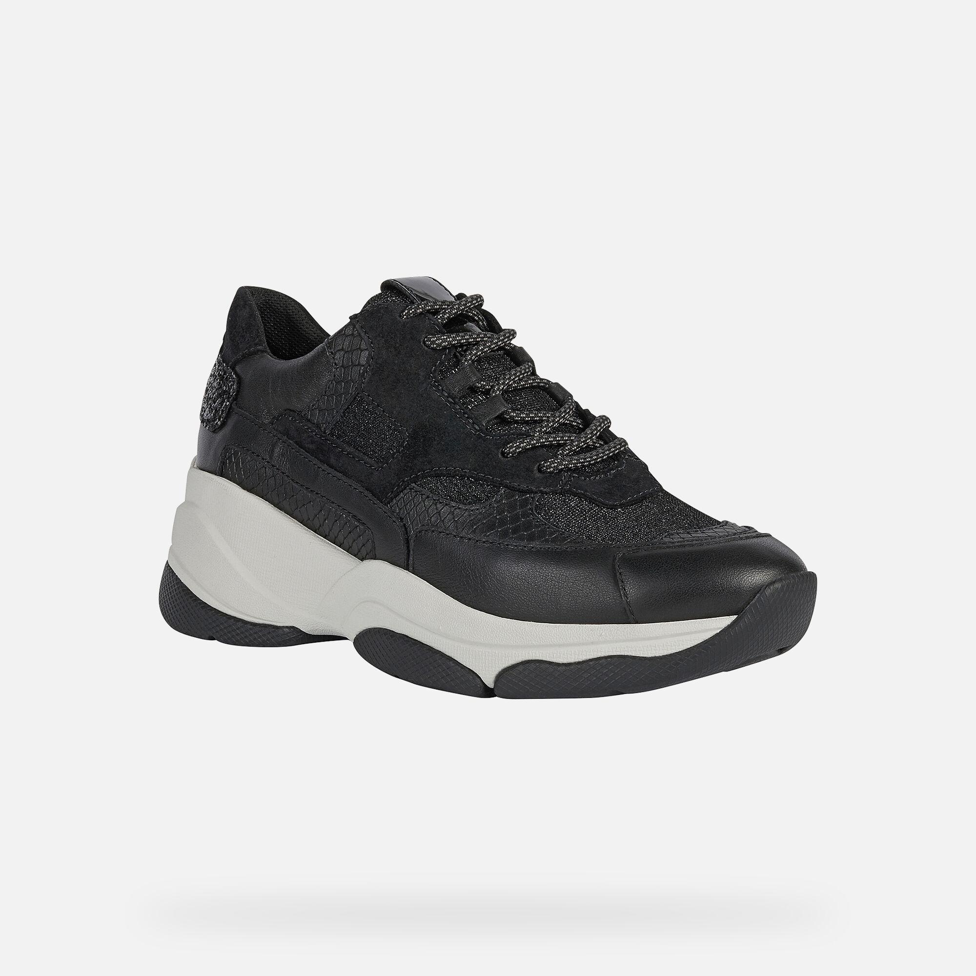 Geox KIRYA Woman: Black Sneakers   Geox
