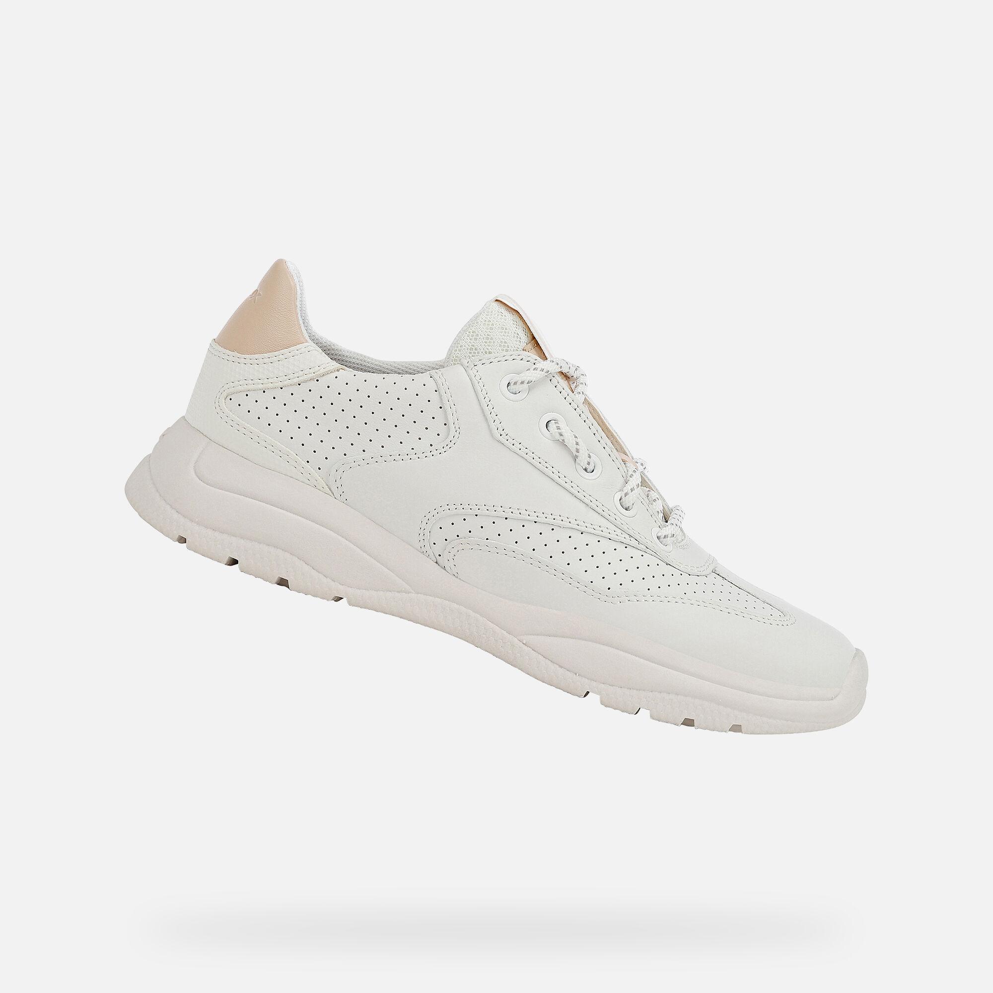 Geox SMERALDO Woman: White Sneakers