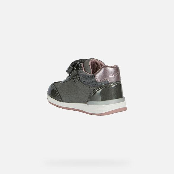 Rápido junio Crónica  Geox RISHON GIRL Baby Girl: Grey First Steps   FW20/21 Geox®
