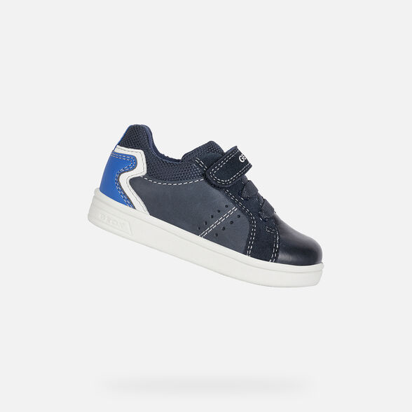 SNEAKERS BABY GEOX DJROCK BABY BOY - NAVY AND ROYAL