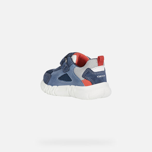 SNEAKERS BABY GEOX FLEXYPER BABY BOY - NAVY AND RED