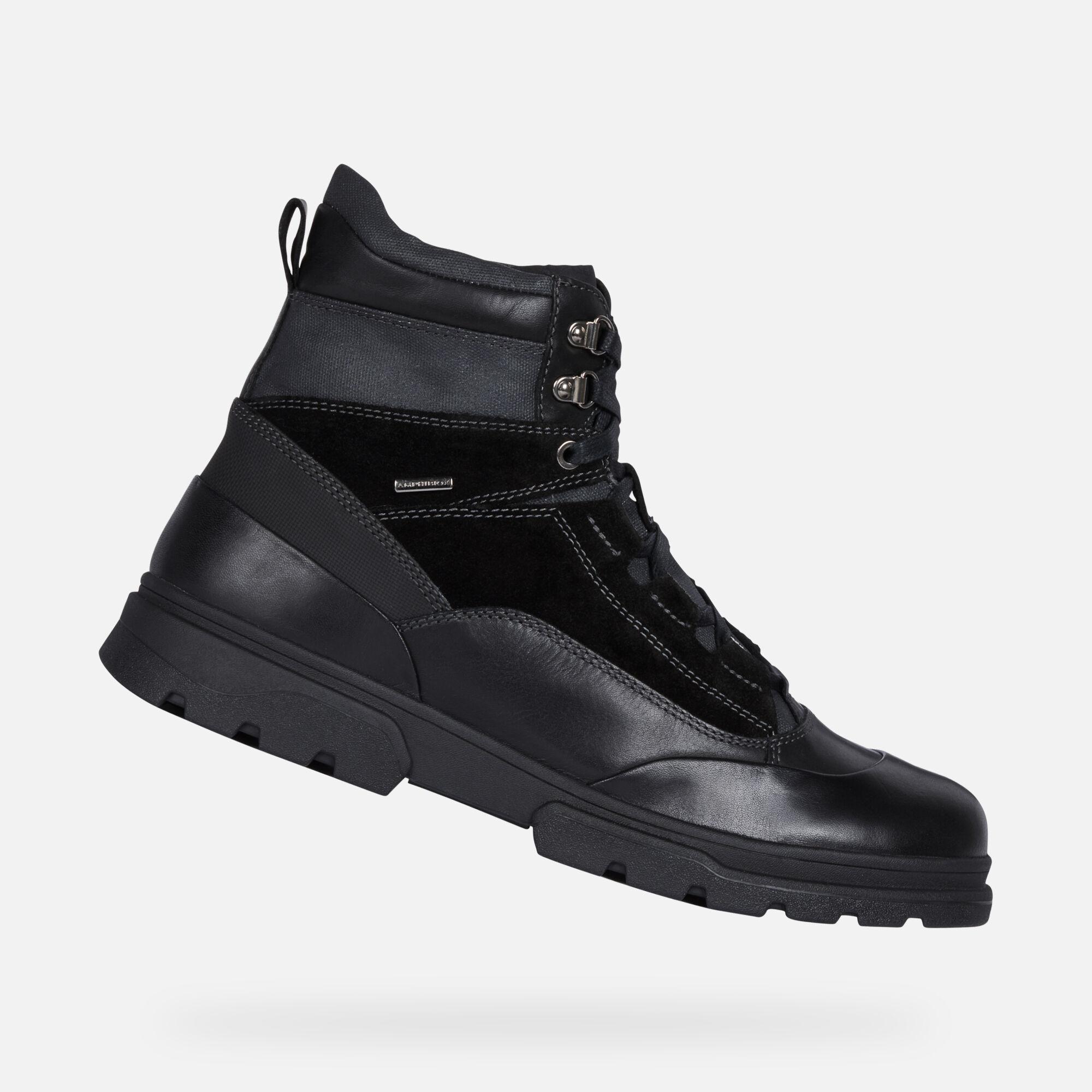 Geox CLINTFORDB ABX Mann: schwarze Stiefeletten | Geox ®