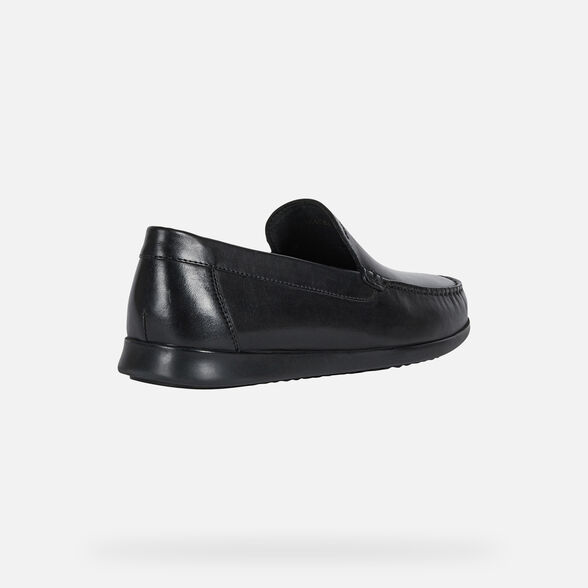 LOAFERS MAN GEOX SILE 2 FIT MAN - BLACK