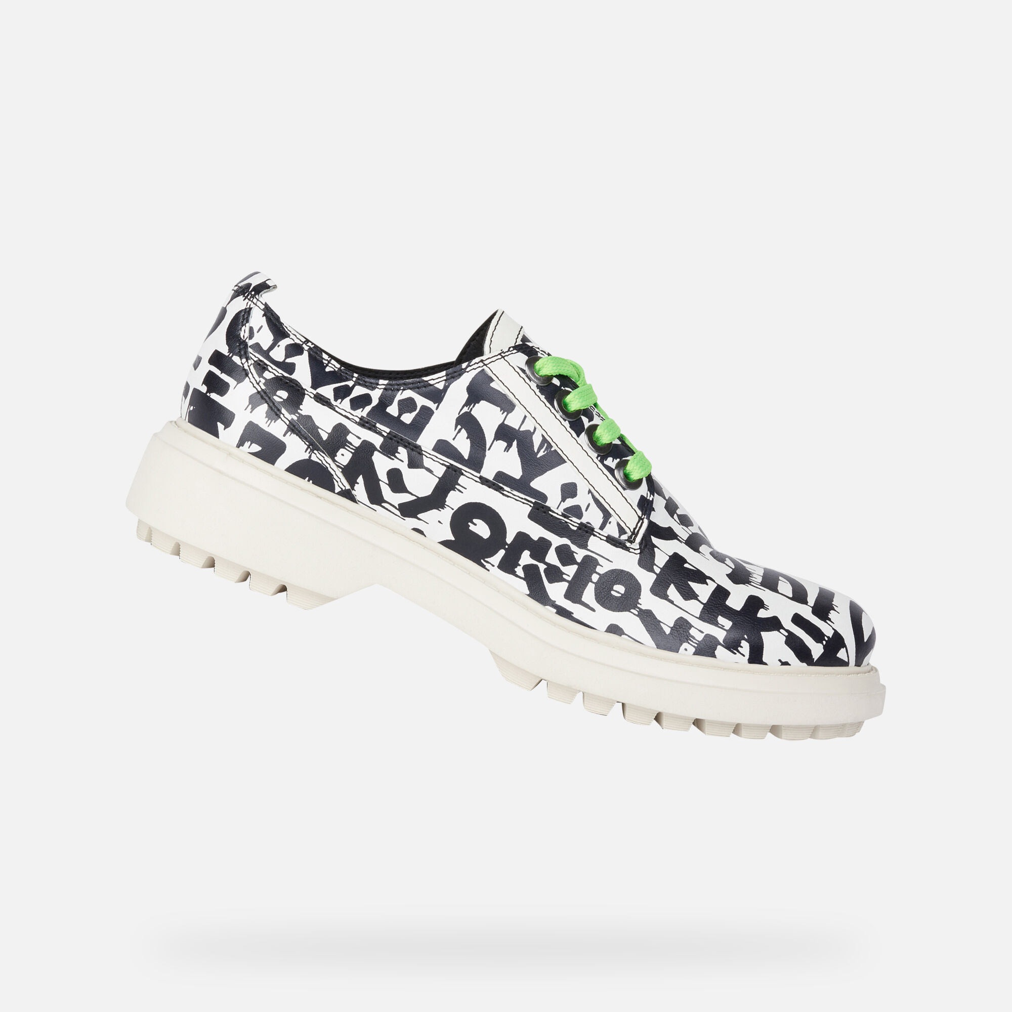 Geox women's shoes | White leather lace up shoes | Shop