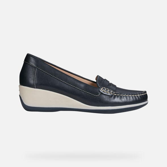 LOAFERS WOMAN GEOX ARETHEA WOMAN - NAVY