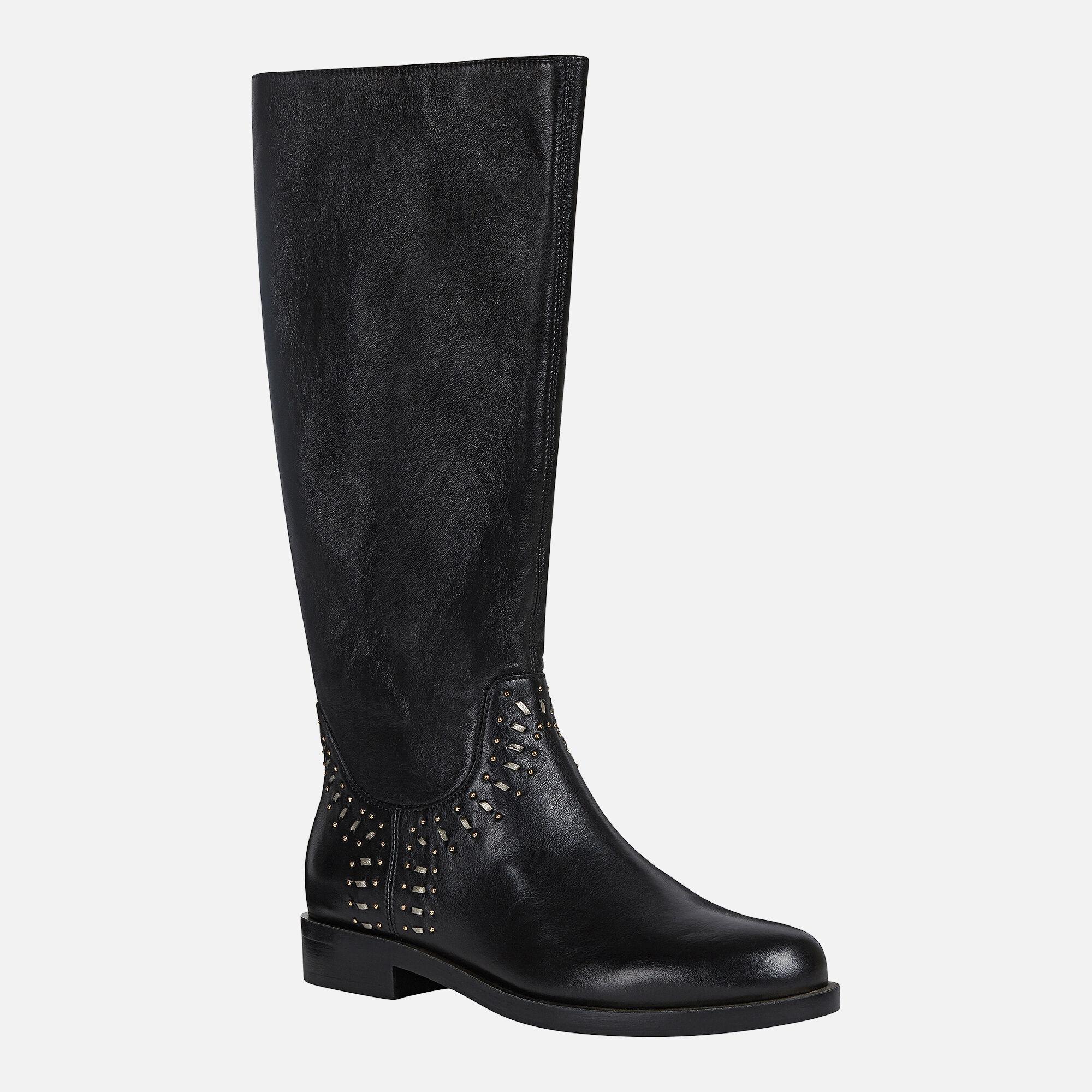Geox BROGUE Woman: Black Boots   Geox SS20