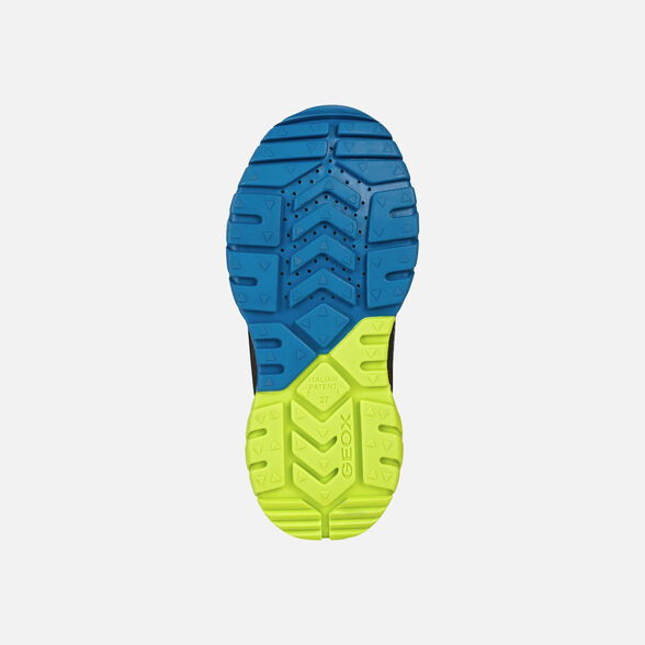 SNEAKERS BOY GEOX TUONO BOY - NAVY AND LIME