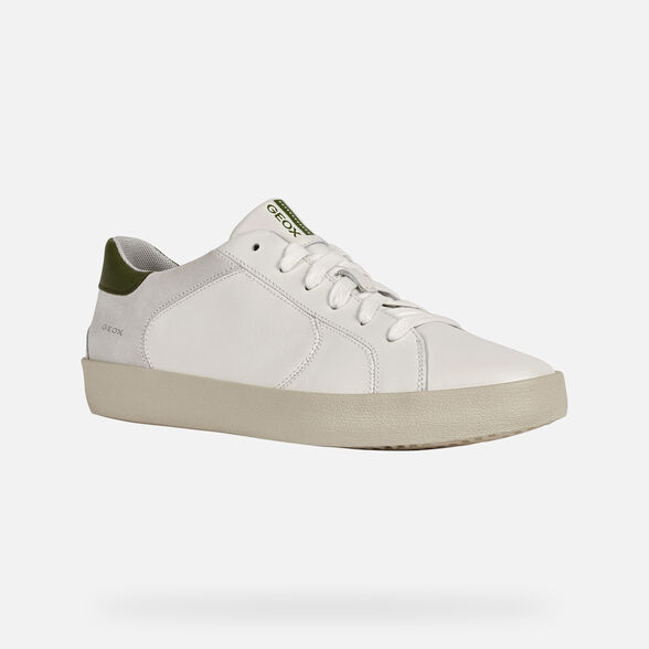 SNEAKERS MAN GEOX WARLEY MAN - WHITE AND OLIVE