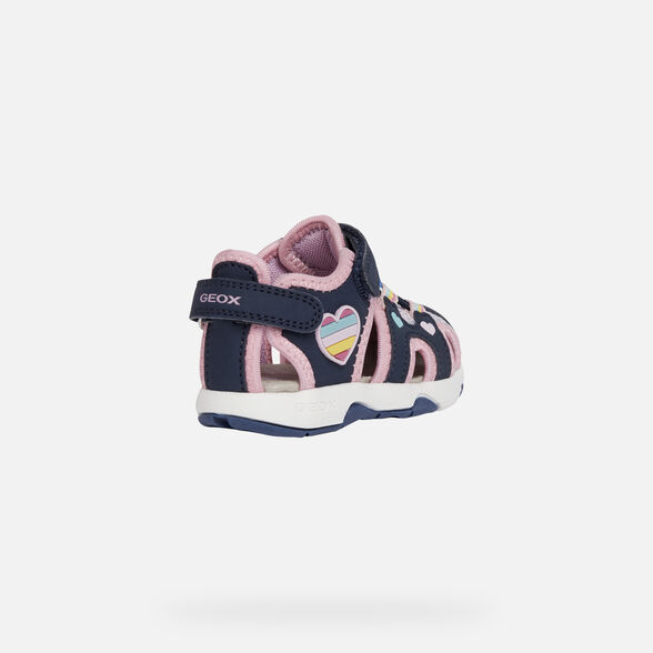 SANDALS BABY GEOX MULTY BABY GIRL - NAVY AND MULTICOLOR