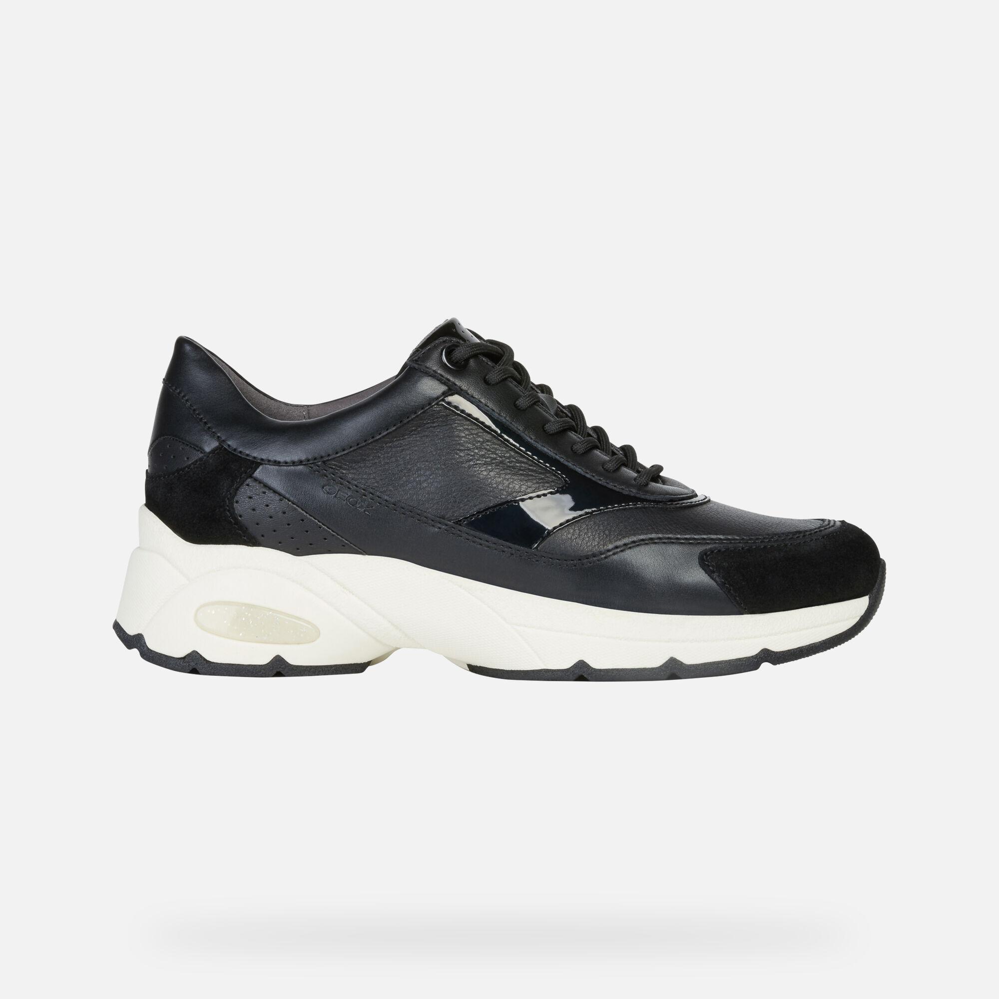 Geox ALHOUR Woman: Black Sneakers