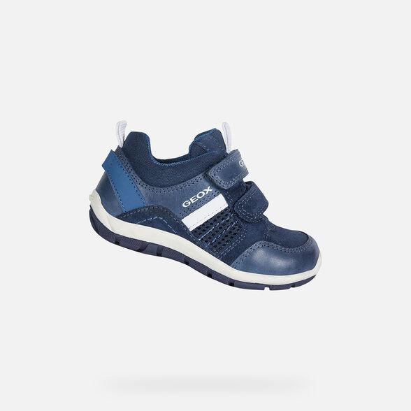 Papá espacio Bisagra  Geox SHAAX Baby Boy: Navy blue Sneakers | Geox Fall Winter