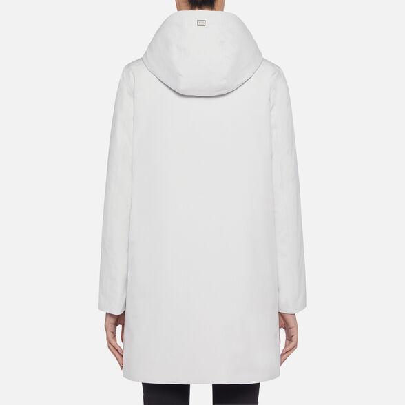 PARKAS WOMAN GEOX GENDRY WOMAN - CLOUD WHITE