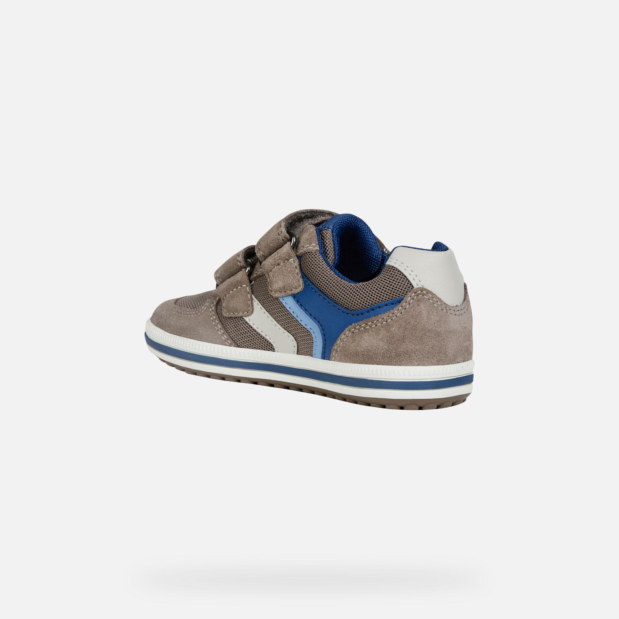 Geox JR VITA: Blue Navy and Red Junior Boy Sneakers | Geox