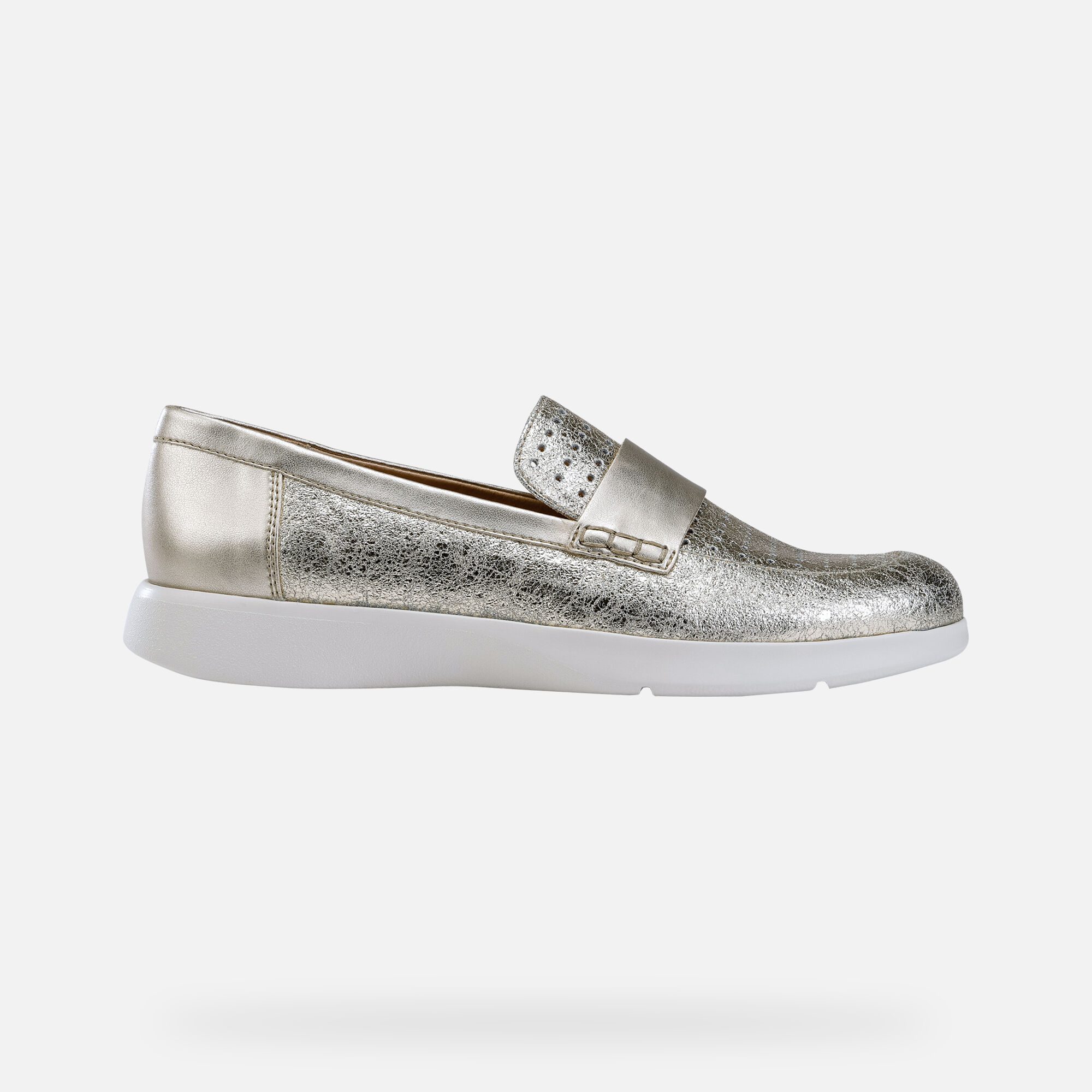 Geox D ARJOLA: Gold Woman Moccasins | Geox SS19