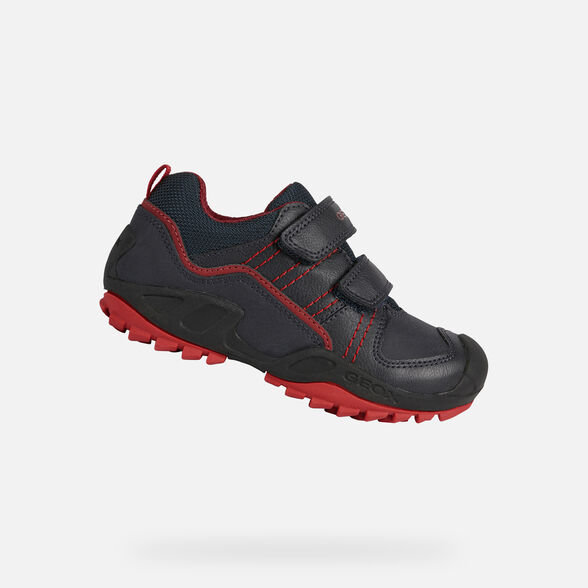SNEAKERS BOY GEOX NEW SAVAGE BOY - NAVY AND RED
