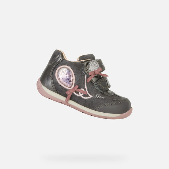 Aliado horno Unidad  Geox EACH Bébé Niña: Zapatos Primeros Pasos Grises | Geox ®