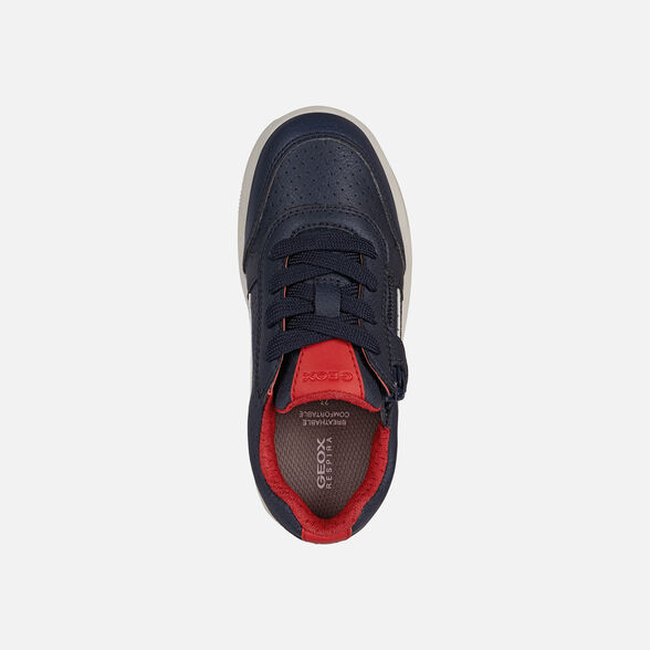 SNEAKERS BOY GEOX ARZACH BOY - NAVY AND RED