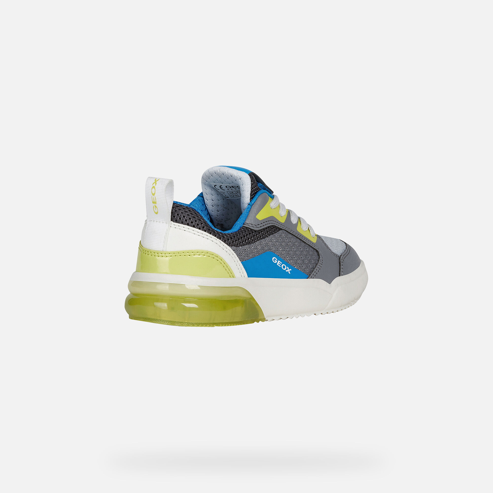 Geox GRAYJAY Boy: Grey Sneakers | Geox ® Official Store