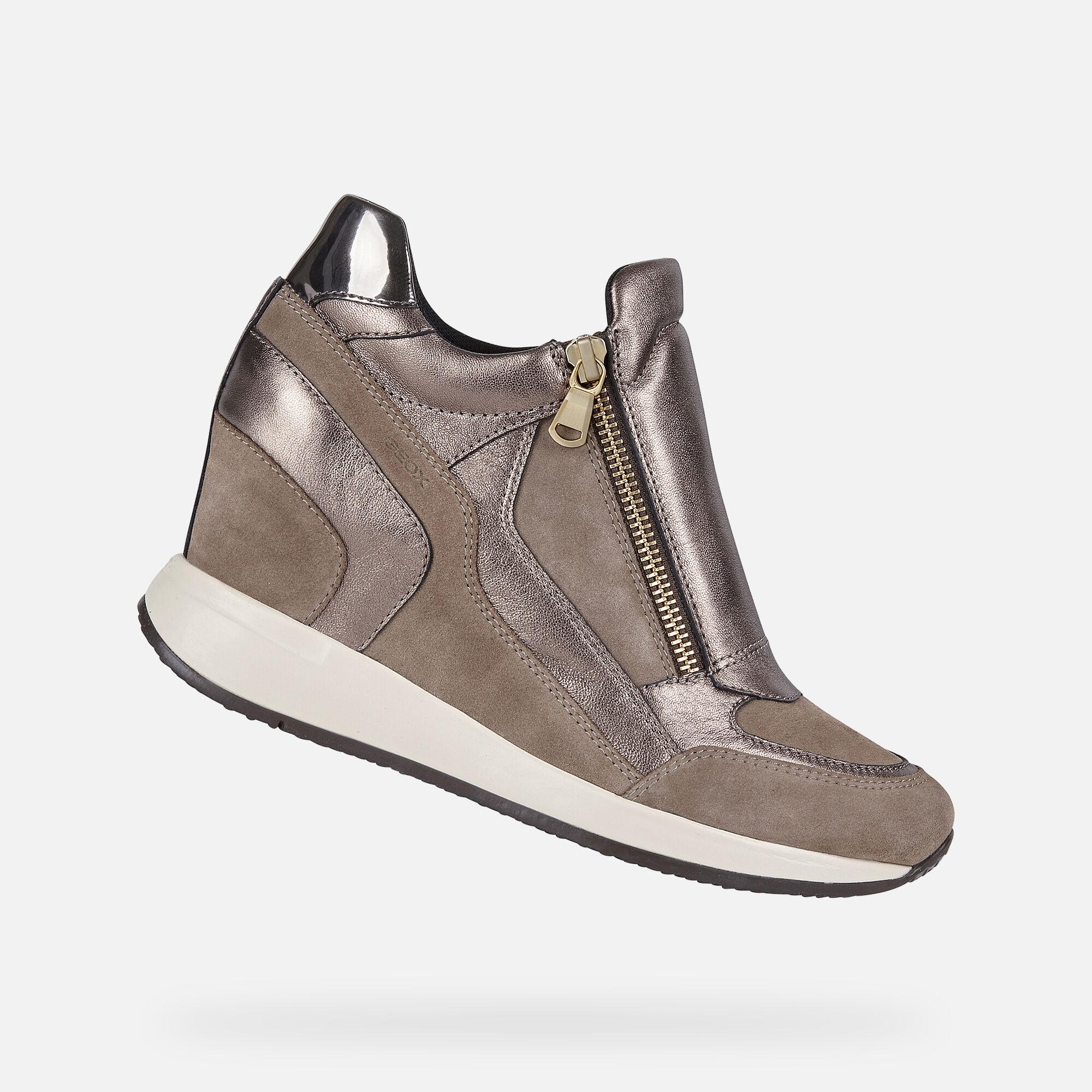 Geox NYDAME Woman: Beige Sneakers