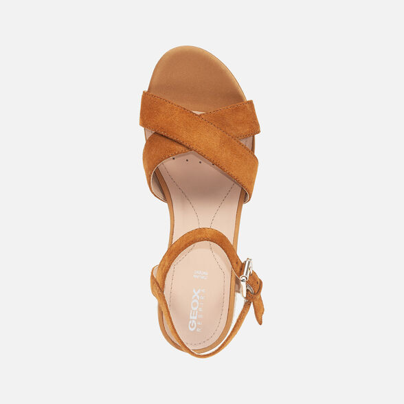 SANDALS WOMAN GEOX ISCHIA WOMAN - CURRY