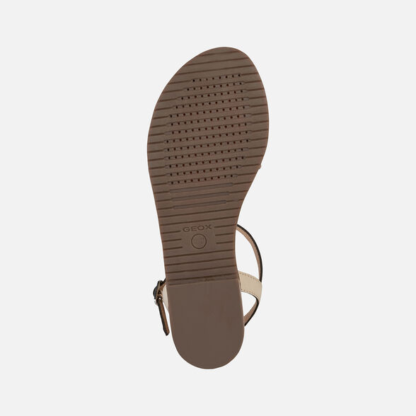 SANDALS WOMAN GEOX SOZY WOMAN - LIGHT TAUPE AND ROSE GOLD