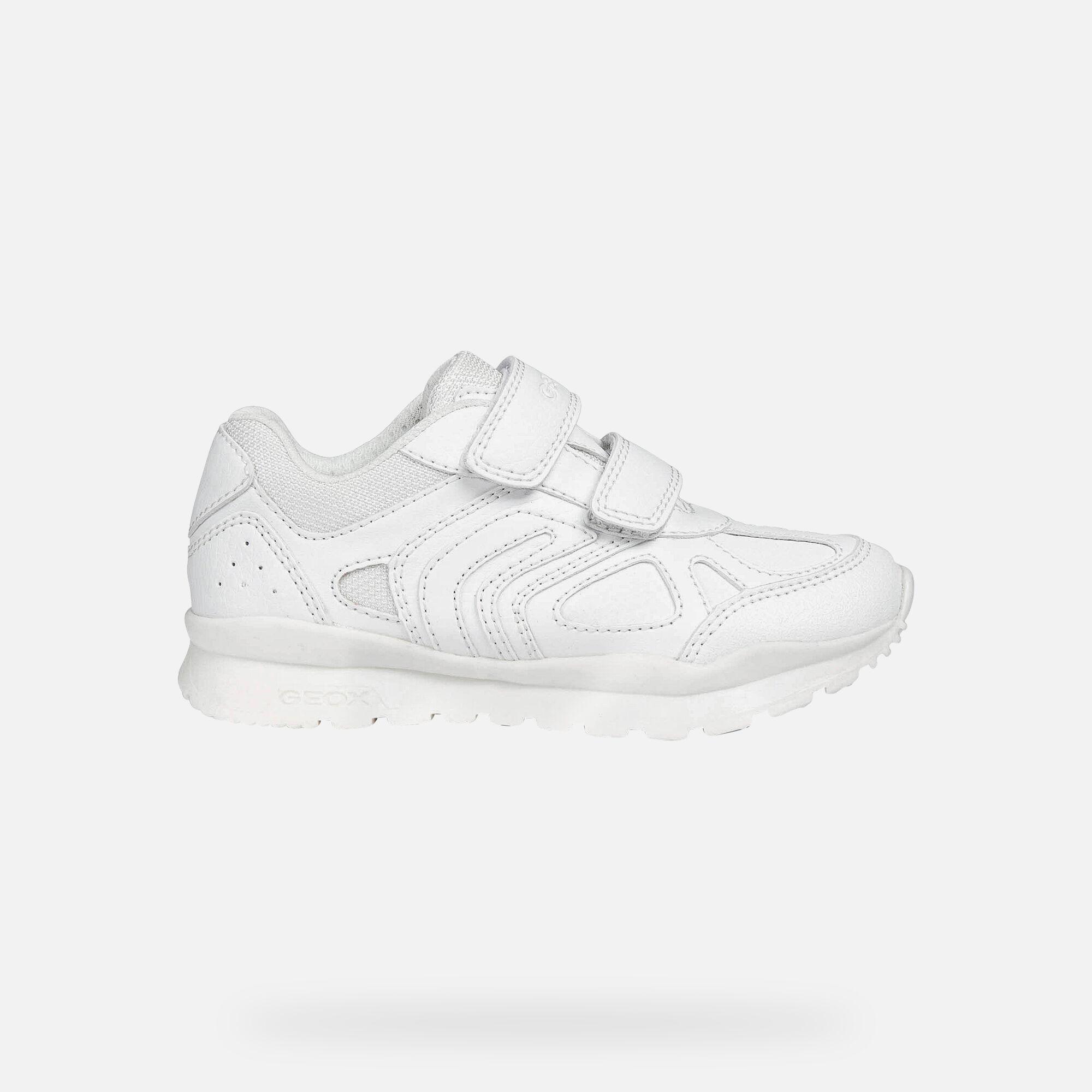 Geox PAVEL Junior Boy: White Sneakers