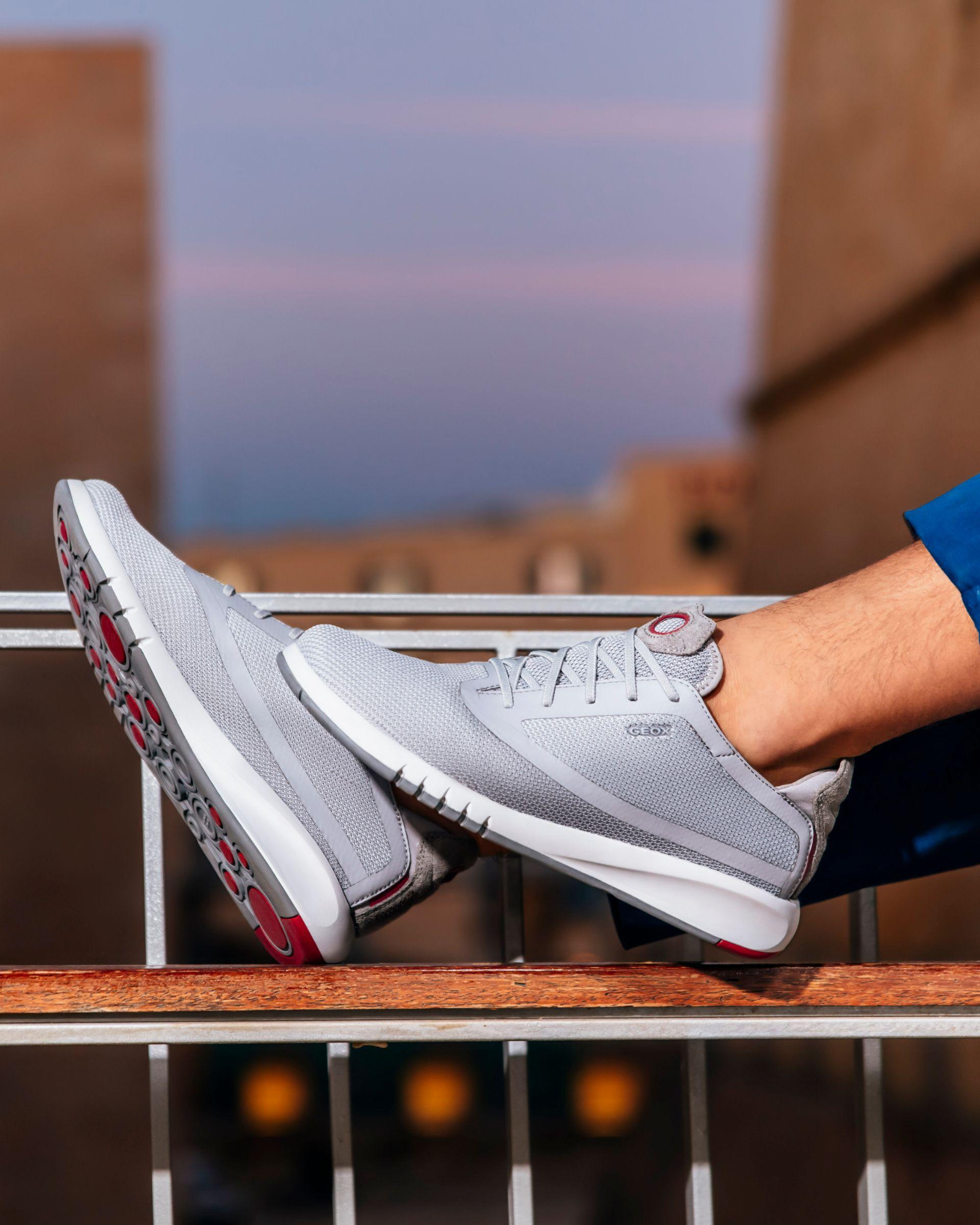 Geox AERANTIS Man: Grey Sneakers   Geox