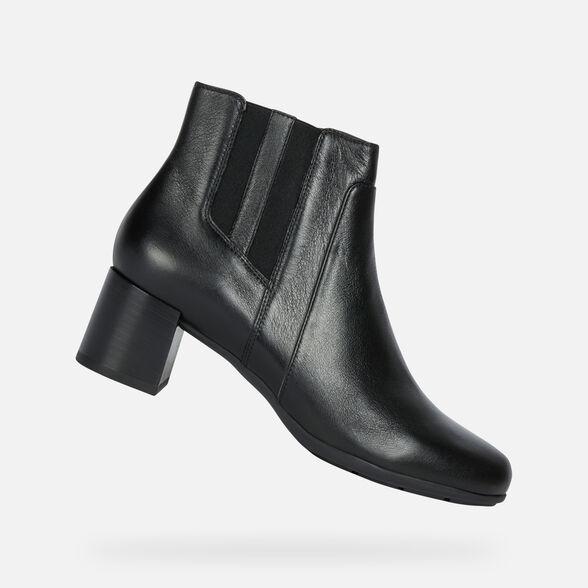rosario Erradicar agudo  Geox NEW ANNYA MID Woman: Black Ankle Boots | Geox® Online