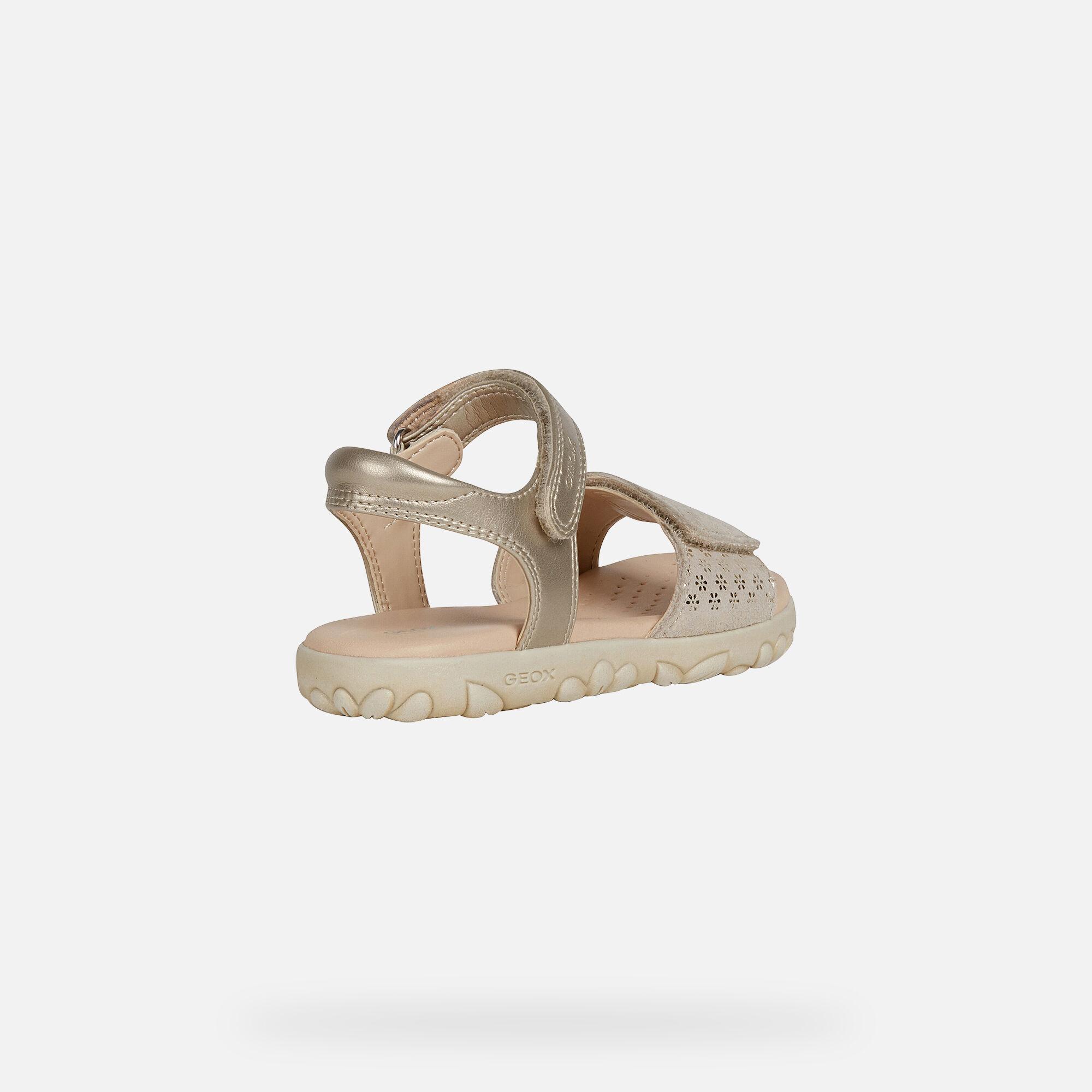 Geox HAITI Girl: Platinum Sandals
