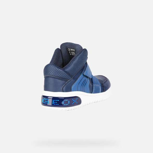 info for 34ccc e4660 Geox XLED Junior Boy: Blue Sneakers | Geox ® FW 19/20