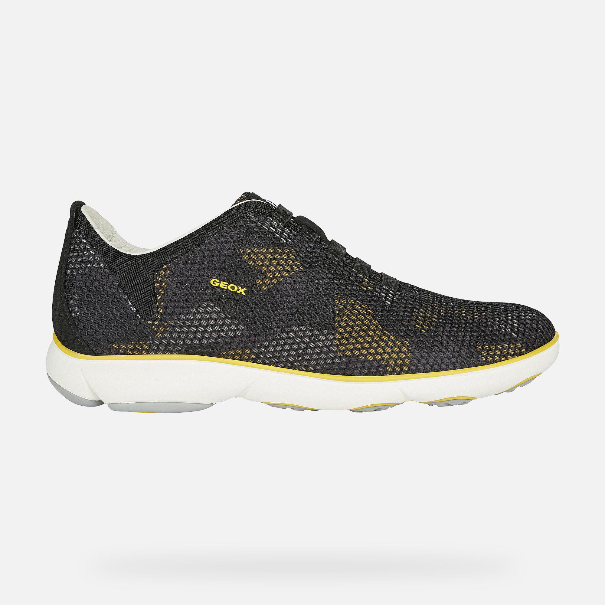 Geox NEBULA Man: Yellow Sneakers | Geox