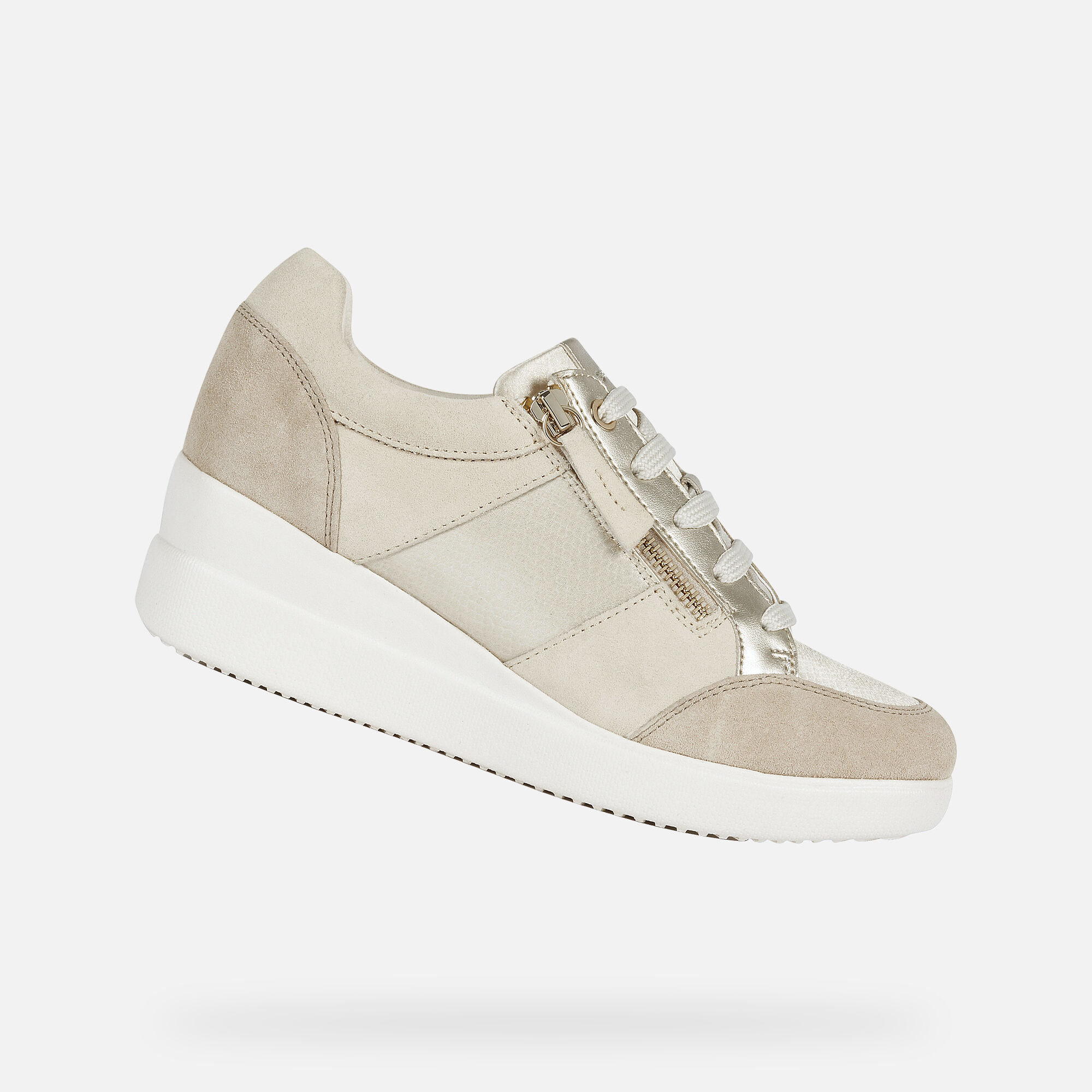 Scarpe Geox Donna Sukie | Sneakers in suede color nude