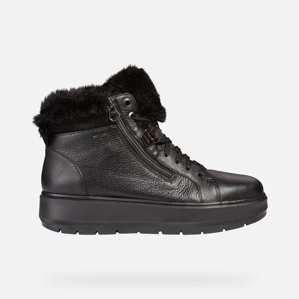 Tormenta bancarrota beneficio  Geox KAULA B ABX Woman: Black Sneakers | Geox® Online