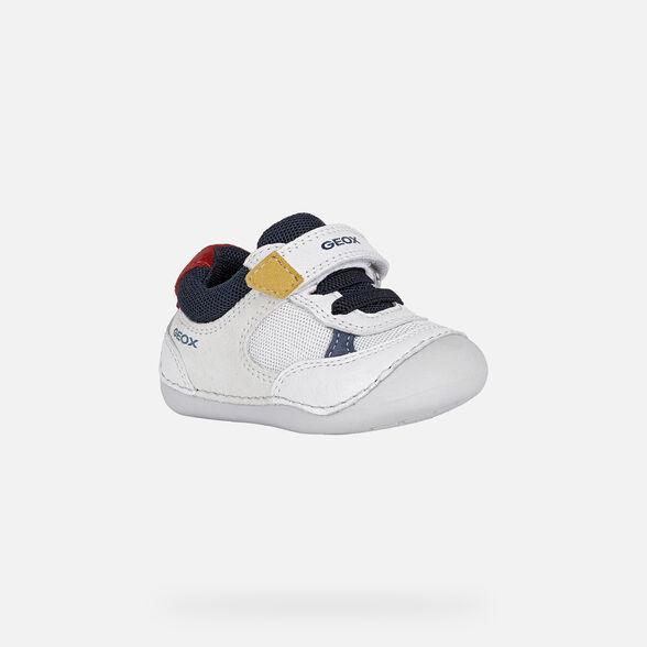 FIRST STEPS BABY GEOX TUTIM BABY BOY - WHITE