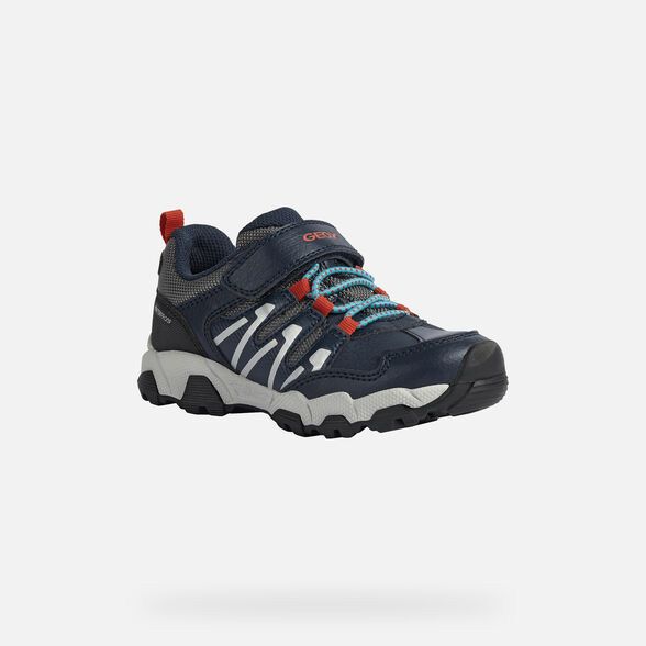 SNEAKERS BOY GEOX MAGNETAR BOY  - NAVY AND RED