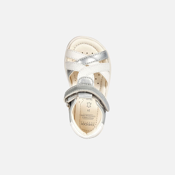 Categoria nascosta per master products Site Catalog GEOX VERRED BABY GIRL - LIGHT GREY AND WHITE