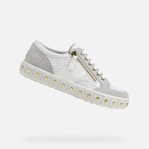 Sinceridad Aflojar Centro de niños  Geox LEELU' Mujer: Sneakers Blancas | Geox® Colección OI