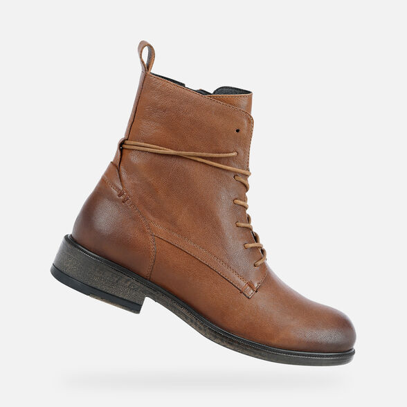 ANKLE BOOTS WOMAN GEOX CATRIA WOMAN - BROWN