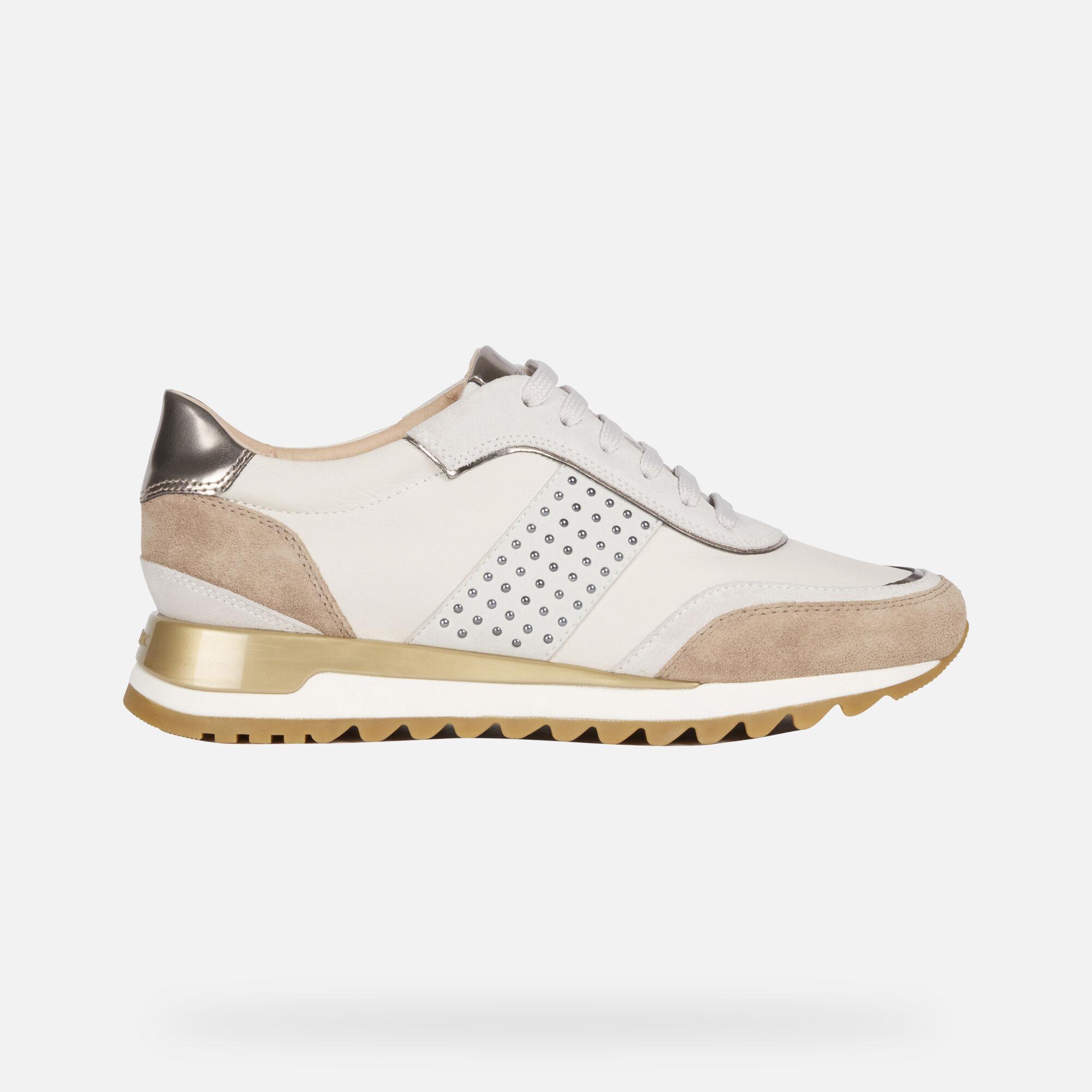 Geox Women's D TABELYA White Sneakers | Geox¨ FW 1920