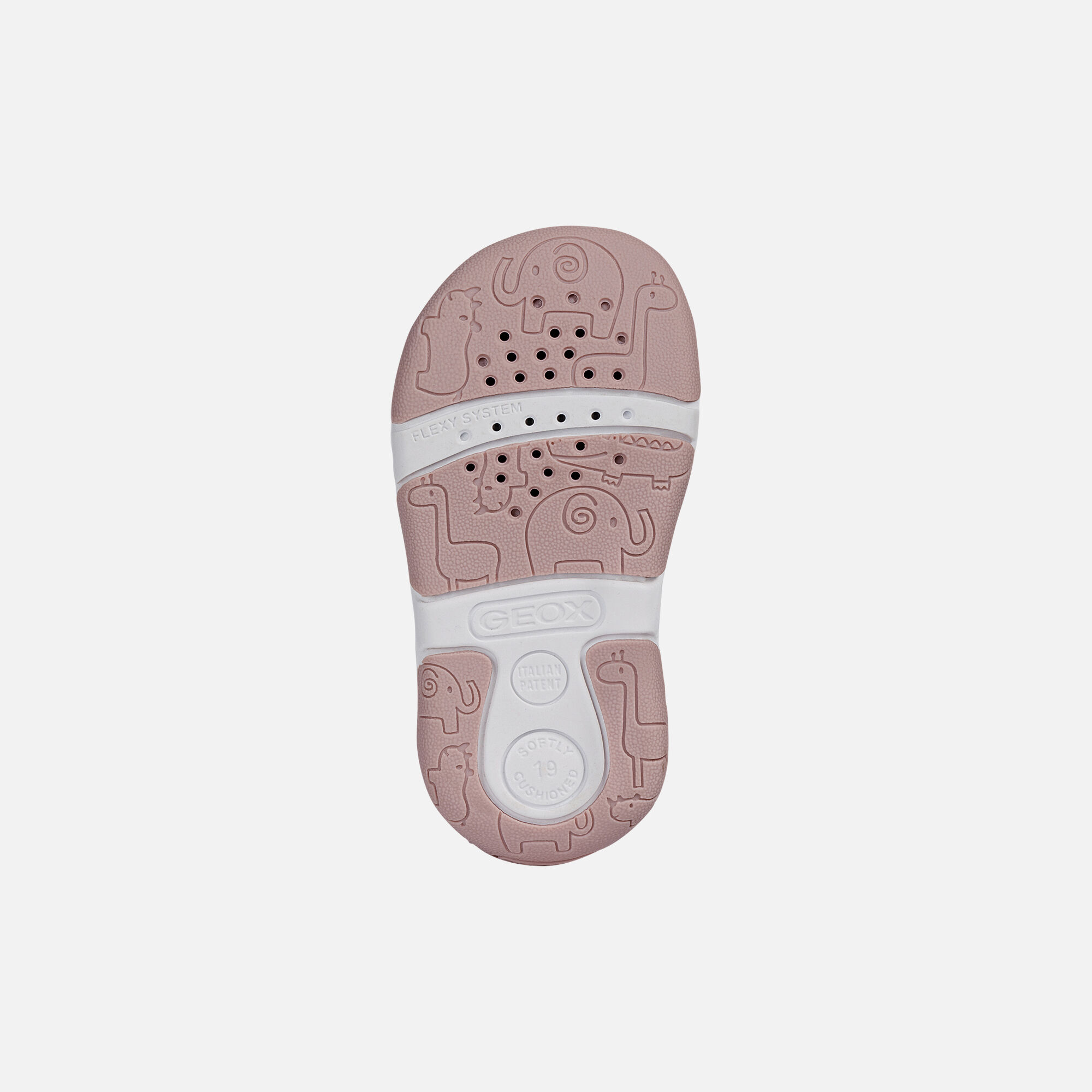 B SANDAL TAPUZ GIRL: White and Pink Baby First Steps Shoes