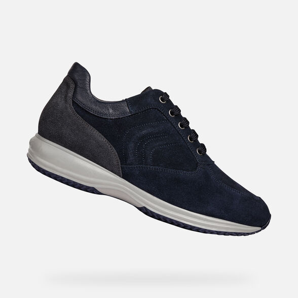 new concept ae683 471a9 Geox HAPPY Man: Blue Sneakers | Geox ® FW 19/20