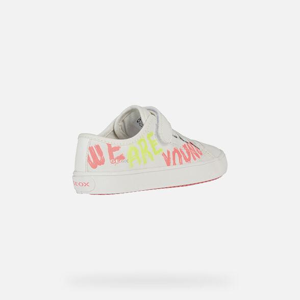 Fille GEOX Infant gisli Haute Baskets en Blanc
