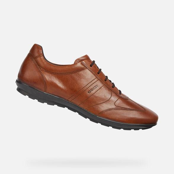 Canal Vergonzoso hidrógeno  Geox UOMO SYMBOL Homme: Chaussures Marron brique | Geox® Store