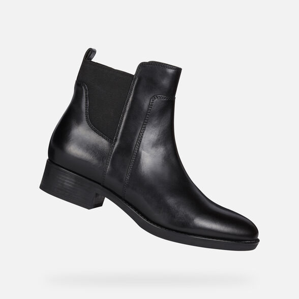Suavemente Síguenos juego  Geox FELICITY Woman: Black Ankle Boots   Geox Fall Winter