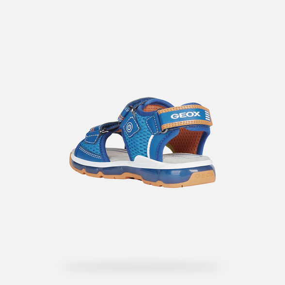 SANDALS BOY GEOX ANDROID BOY - ROYAL AND ORANGE