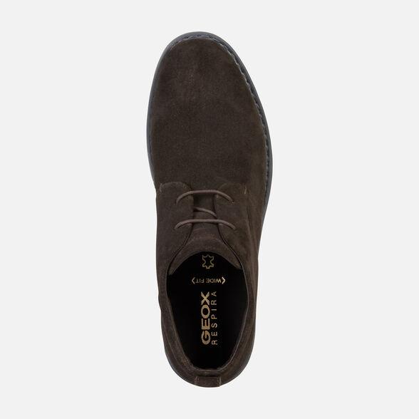 zapatos de separación d3688 a011b Geox BRANDLED Man: Dark coffee Shoes | Geox FW19/20
