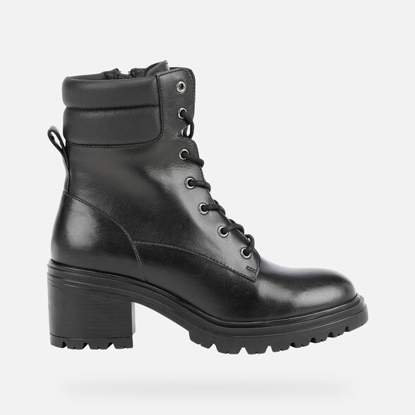 ANKLE BOOTS WOMAN GEOX DAMIANA WOMAN - BLACK