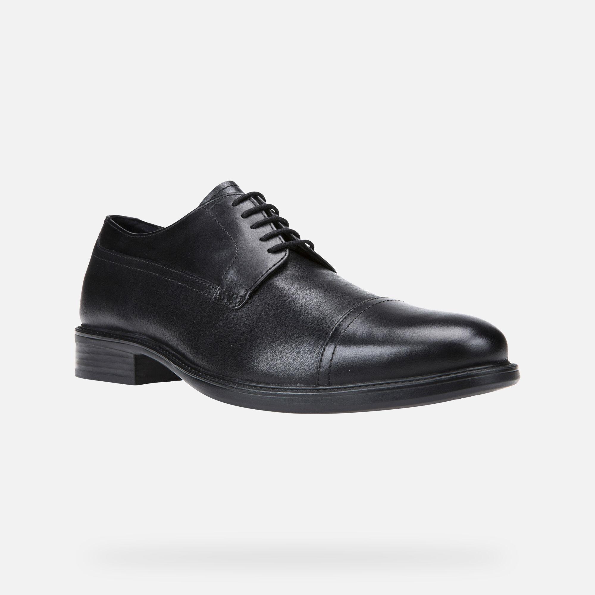 geox mens black shoes