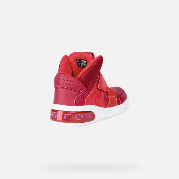 reputable site 3a866 999fc Geox XLED Junior Boy: Red Sneakers | Geox ® Official Store