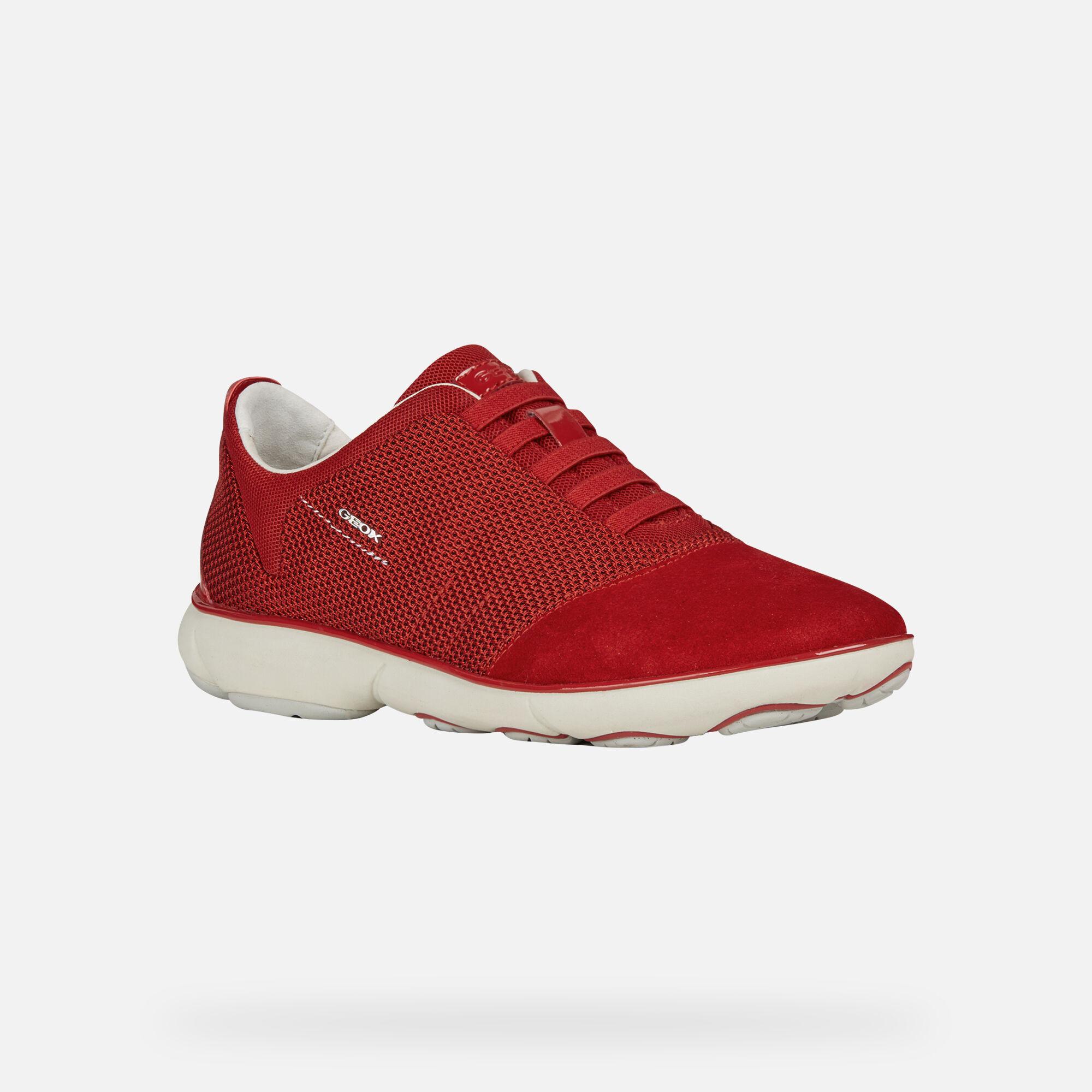 Geox NEBULA Woman: Red Sneakers   Geox